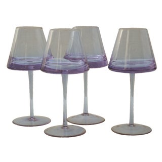UFO Lavender Triangle Goblets - Set of 4