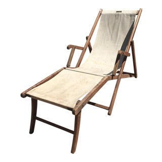 Vintage HMS Queen Mary Deck Lounge Chair, Circa 1936