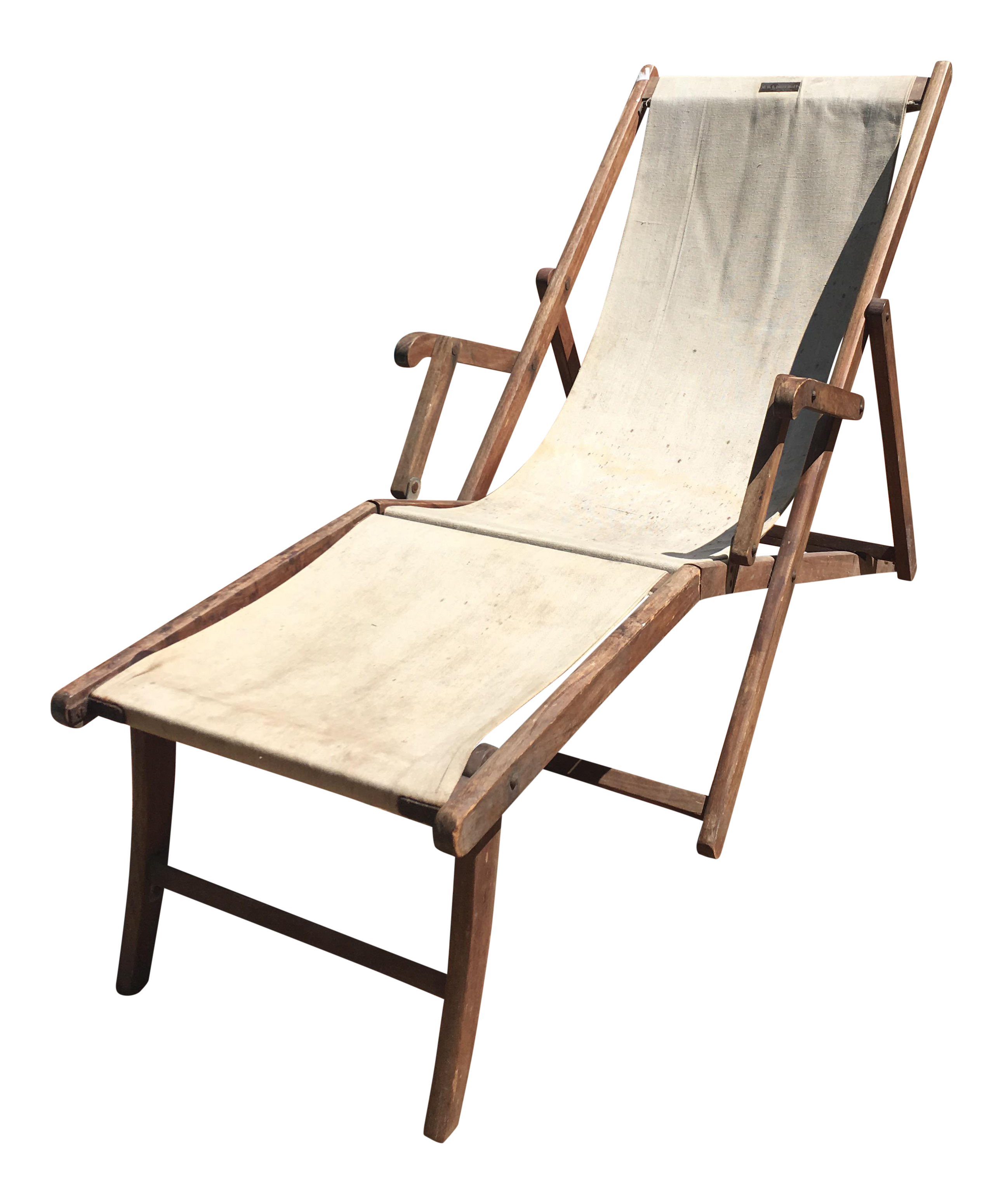 vintage hms queen mary deck lounge chair  circa 1936