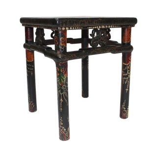 Vintage Hand-Painted Tibetan Side Table