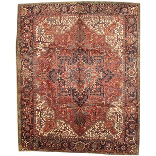 Persian Heriz Hand-Knotted Rug - 9′10″ × 12′3″