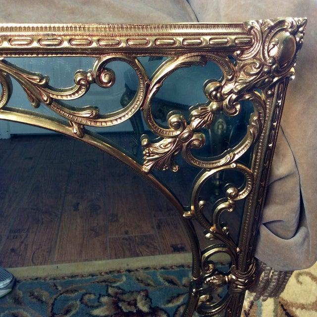 Ornate Brass Overlay Mirror - Image 3 of 4