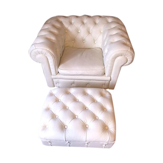 Faux Leather Tufted Armchair - Image 1 of 5