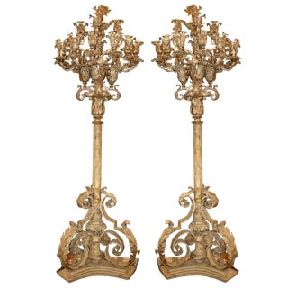 Antique Torcheres Floor Candelabra