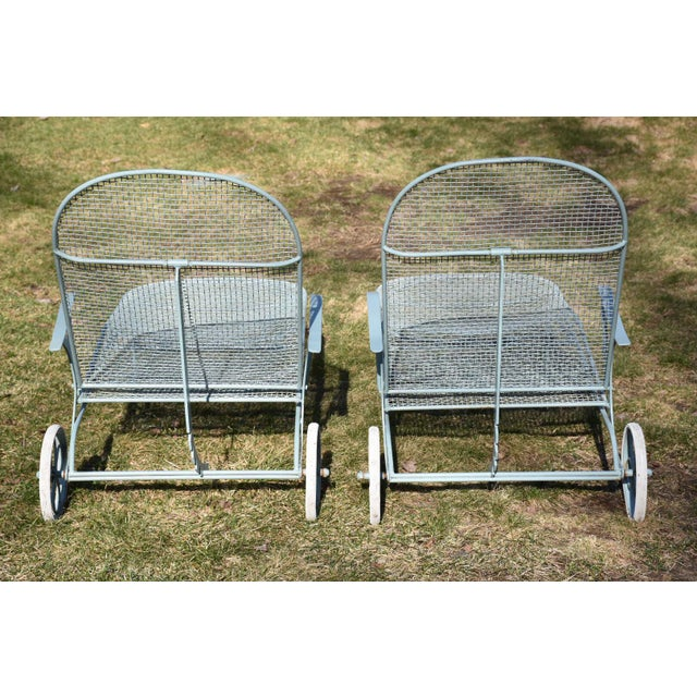 Russell Woodard Sculptura Patio Chaise Lounges - A Pair - Image 5 of 11