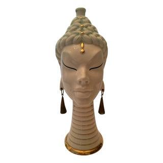 Vintage Exotic Face Vase