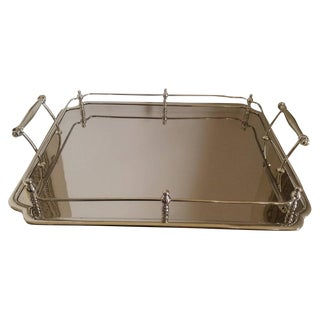 Nickel Plated Serving Bar Tray