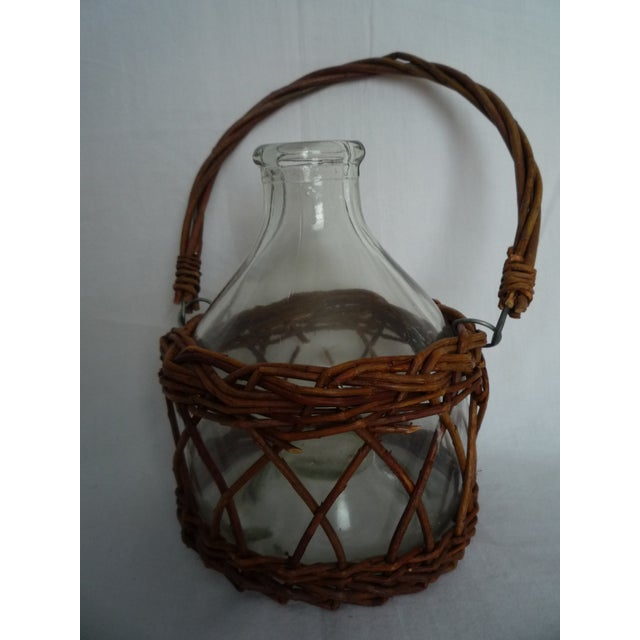 Vintage Demijohn in Basket - Image 2 of 5