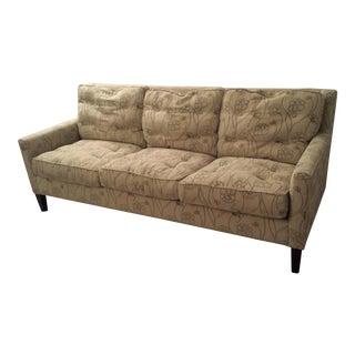 Maurice Villency Floral Three Cushion Sofa