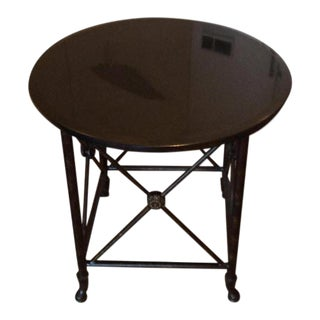 Black Granite Top Accent Table
