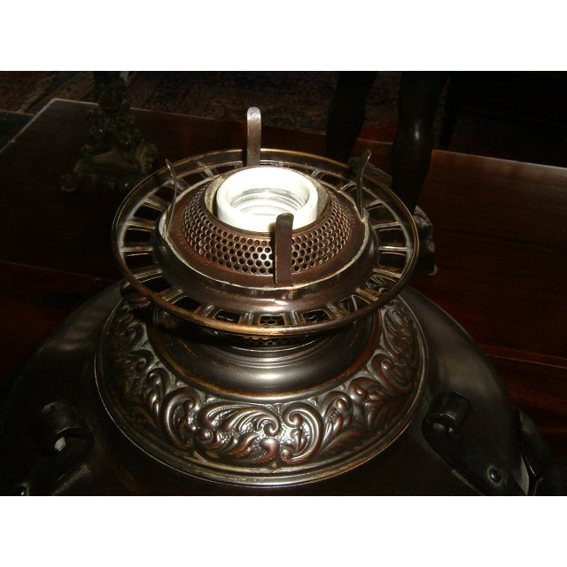 Arts & Crafts Electrified Oil Lamp - Image 3 of 5