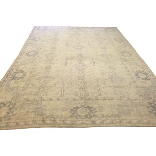 "Turkish Oushak Area Rug - 10'10"" X 14'2"""