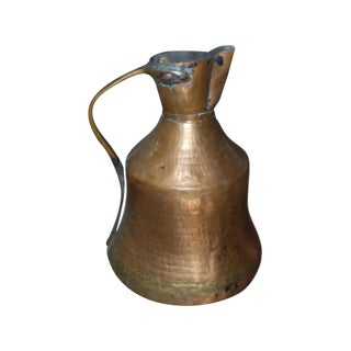 Antique 18th C. Handmade Copper Pitcher