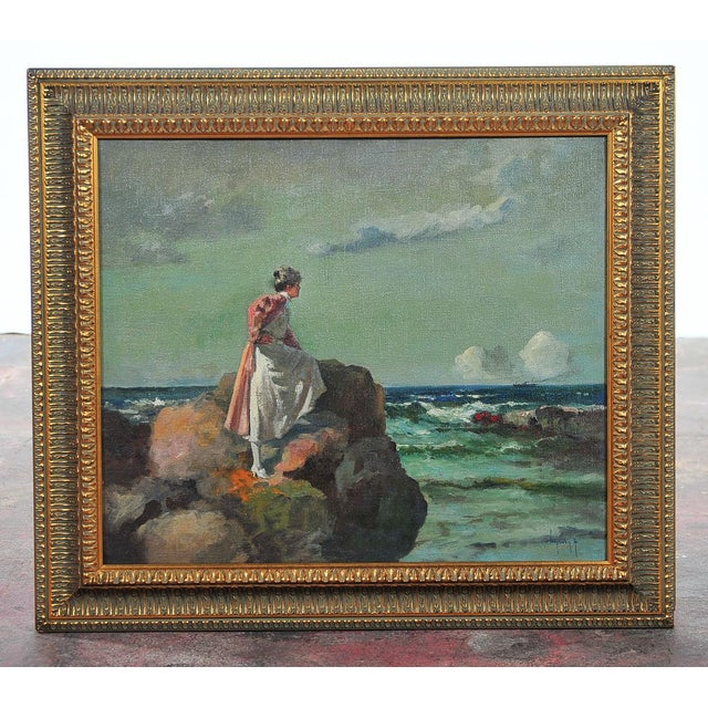 """Woman Looking at Sea,"" Painting by A. Neogrady - Image 2 of 9"