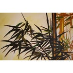 Image of Mid-Century Wing Lee Painting of Bamboo on Canvas