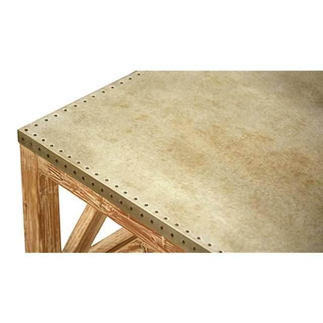Zinc Top Reclaimed Pine Coffee Table Chairish