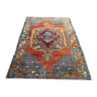 Handknotted Tribal Turkish Area Rug - 4′8″ × 7′5″