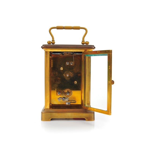 Stowell & Co. Antique Brass Carriage Clock - Image 5 of 9