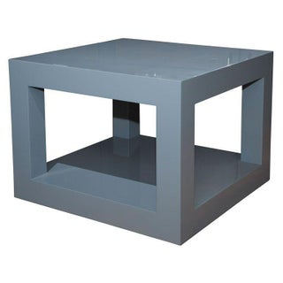 Hannah Lacquered Table in Slate Gray