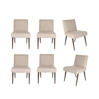 Customized Set of 6 Sheppard Dowel Leg Side Dining Chairs
