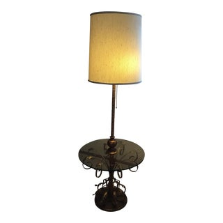 Vintage Floor Glass Table Lamp