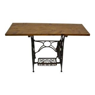 Antique Sewing Machine Base Side Table