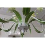 Image of Vintage Painted Flower Chandelier