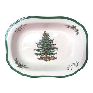 Spode Christmas Tree Oval Vegetable Dish