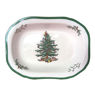 Spode Christmas Tree Oval Vegetable Dish