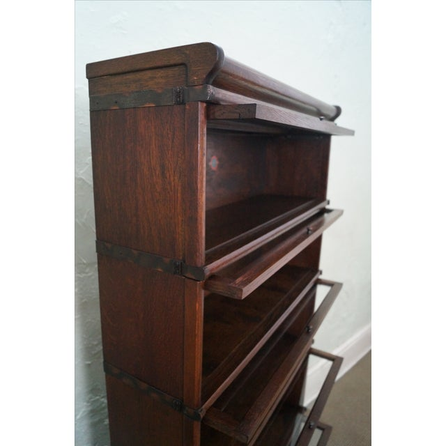 Image of Globe Wernicke Antique Oak Barrister Bookcase