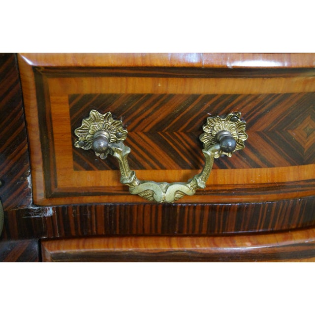 French Louis XV Marble Top Bombe Chests - 2 - Image 7 of 10