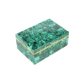 Russian Malachite Box Jewelry Box