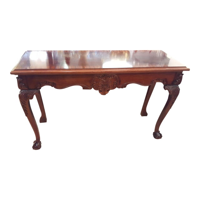 Cherry Wood Console Table - Image 1 of 7