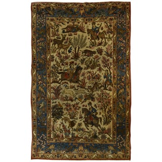 Persian Quom Hunting Rug