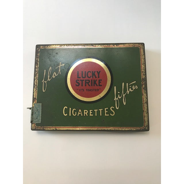 1940s Vintage Lucky Strike Cigarettes Box. - Image 2 of 7