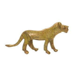 Vintage Bronze Lioness Figurine / Ashanti Gold Weight