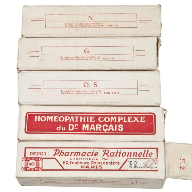 Vintage French Homeopathic Vials - Set of 5 - Image 6 of 6