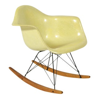 Eames Lemon Yellow Zenith Rope-Edge, RAR Rocker by Herman Miller