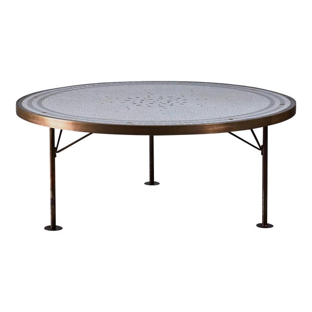 Berthold Muller Round Mosaic Coffee Table, Germany, 1960s - Image 1 of 3