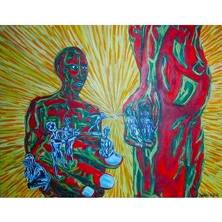 Figurative Large Painting  Vibrant Colors Fauvist