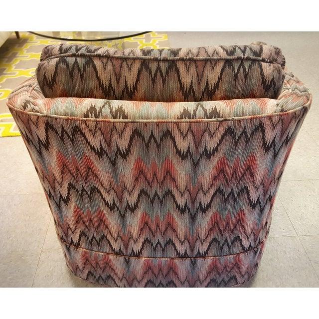 Vintage Post Modern Swivel Club Chair - Image 7 of 8