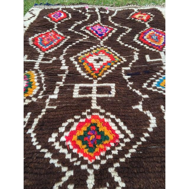 Azilal Moroccan Wool Rug - 4′5″ × 6′1″ - Image 6 of 7