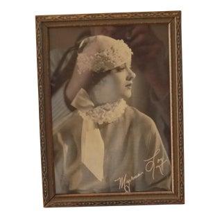 Vintage Famous Starlet Framed Photograph