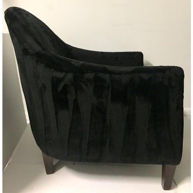 Image of Art Deco Style Faux Mink Fur Club Chair