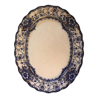 Ironstone Blue & White Platter