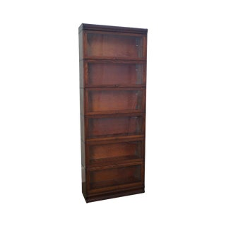 Antique Lundstrom Oak Barrister Stacking Bookcase