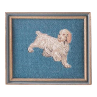 Framed Spaniel Dog Needlepoint
