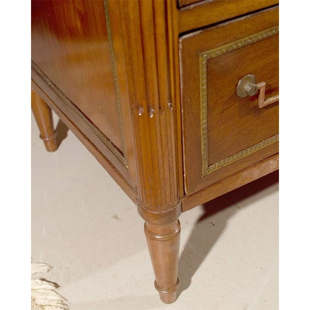 Image of Maison Jansen Marble Top & Mahogany Commode