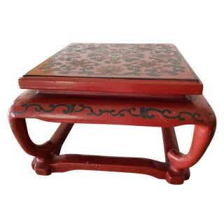 Vintage Red Lacquer Chinese Display Stand