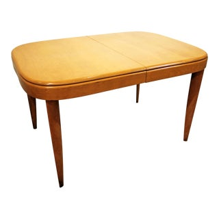 Mid-Century Modern Heywood Wakefield Champagne Extension Dining Table